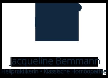 Großes Logo mit Text Jacqueline Bemmann, Heilpraktikerin, Klassische Homöopathie